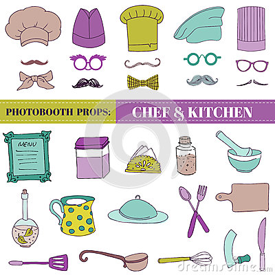 Chef and Kitchen - Photobooth Set