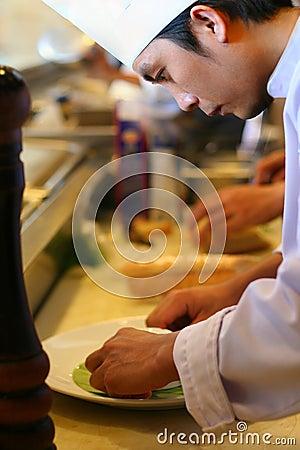 Chef at kitchen restaurant