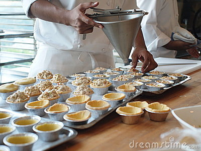 Chef making tarts