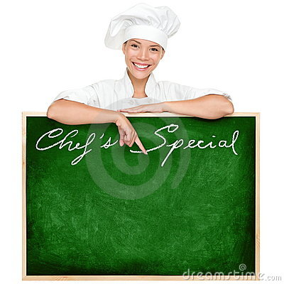 Free Chef Menu Sign Royalty Free Stock Photo - 23320055