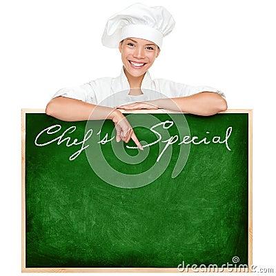 Chef menu sign