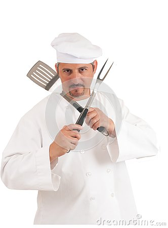 Free Chef On White Background Royalty Free Stock Image - 130698146