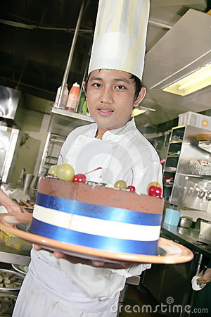 Chef at pastry