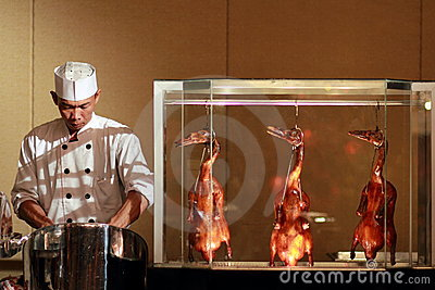Chef prepare chinese duck Editorial Photography