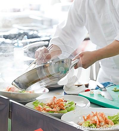 Free Chef Preparing Food Stock Photos - 18622603
