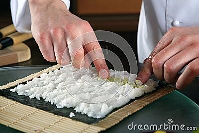 Chef Preparing Sushi-5