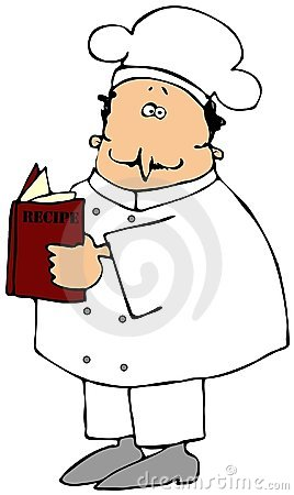 Chef Reading A Recipe Book