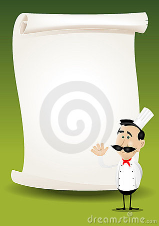 Chef Restaurant Poster Menu Background