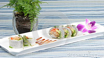 Chef s special sushi roll