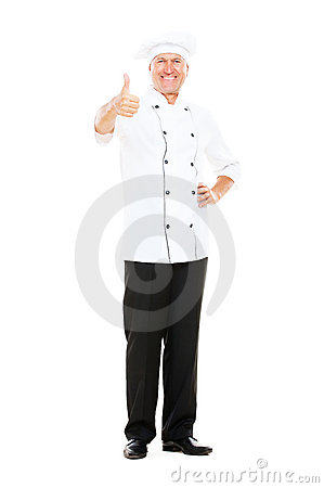 Chef showing thumbs up