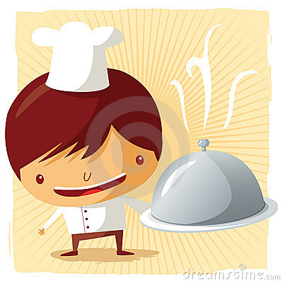 Free Chef - Silver Platter Royalty Free Stock Photography - 19253727