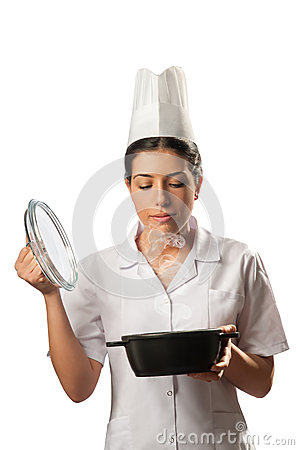 Isolated Chef and Pot