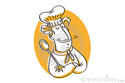 Chef with spoon