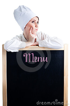 Free Chef Thinking About Lunch Menu Stock Photography - 13885912