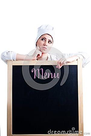 Chef thinking about menu
