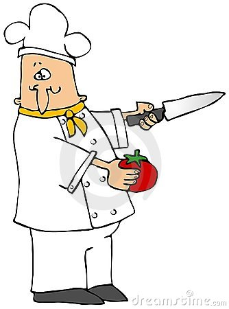 Chef With A Tomato