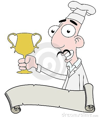 Chef with trophy