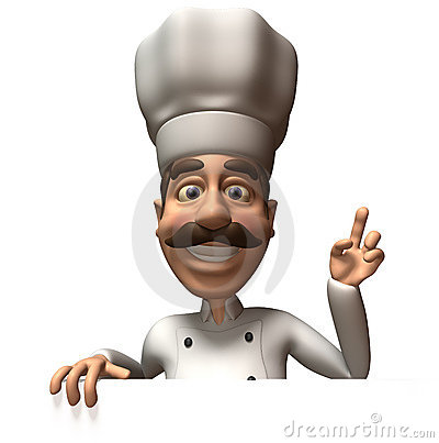 Free Chef With A Blank Sign Royalty Free Stock Images - 4838979