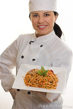 Free Chef With Pasta Stock Photography - 748272