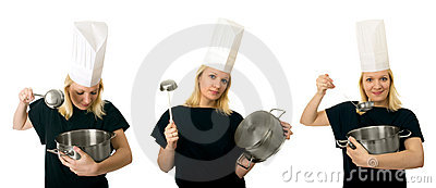 chef women triptych