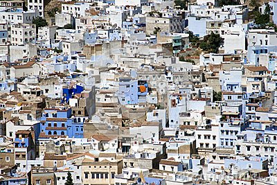 Chefchaouen, Morocco - Aerial View of Medina