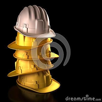Chefe do capacete de segurança