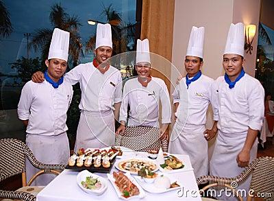 Chefs at restaurant