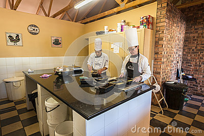 Chefs School Baking Kitchen Editorial Image