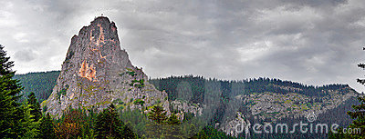 Cheile Bicaz panoramic view
