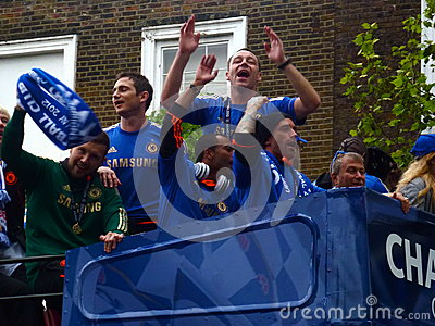 Chelsea Celebrate - European Champions 2012 Editorial Stock Photo