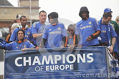 Chelsea - European Champions Editorial Image