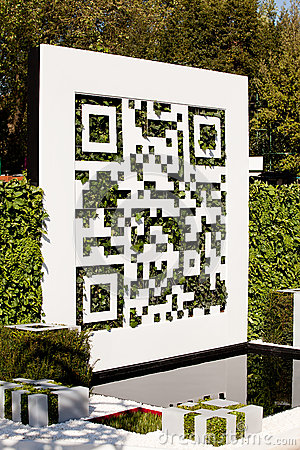Chelsea Flower Show - QR Code Editorial Stock Photo
