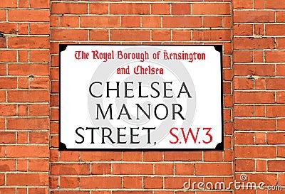Chelsea Manor Street Sign, London