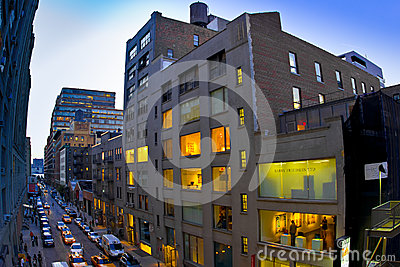 Chelsea NYC Galleries Editorial Stock Image