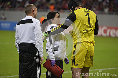 Chelsea s doctor Eva Carneiro and Petr Cech Editorial Photography