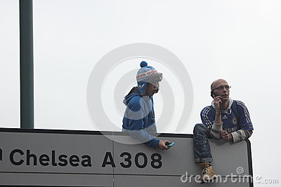 Chelsea victory parade spectators Editorial Photography