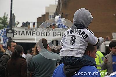 Chelsea victory parade spectators Editorial Stock Photo