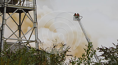Chemical Fire Editorial Stock Image