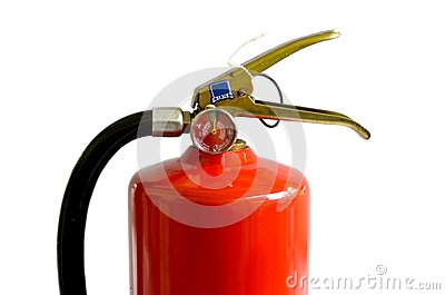 Chemical fire extinguisher isolated on white background