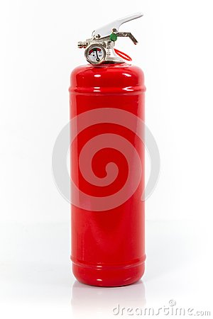 Free Chemical Fire Extinguisher Red Tank Isolated On White Backgroun Royalty Free Stock Photography - 123269497