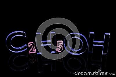Chemical formula of spirit