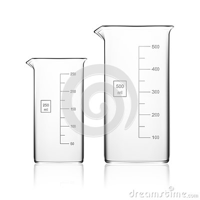 Free Chemical Laboratory Glassware Or Beaker. Glass Equipment Empty Clear Test Tube Stock Image - 78073791