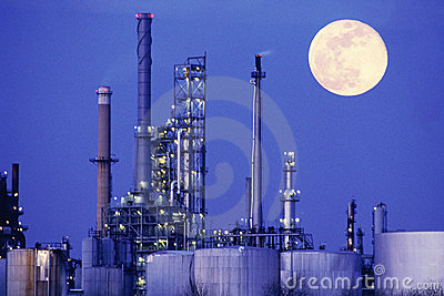 Chemical manufacturing plant Editorial Image
