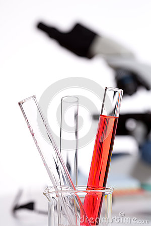 Chemical scientific laboratory stuff test tubes