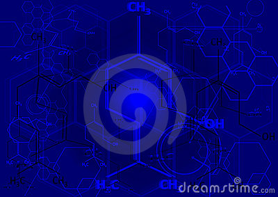 The chemical structural formula of spirit