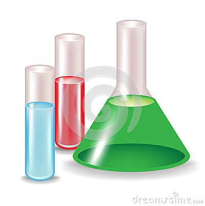 Chemical substances in glass containers
