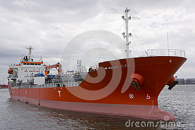 Chemical tanker mooring in port