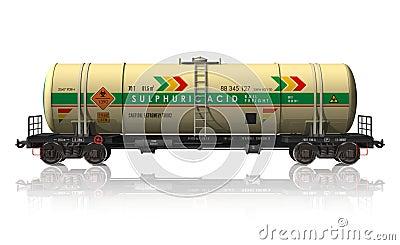 Chemical tanker railroad car