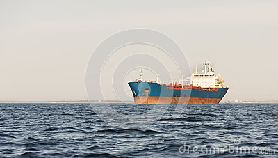 Chemical tanker on sea