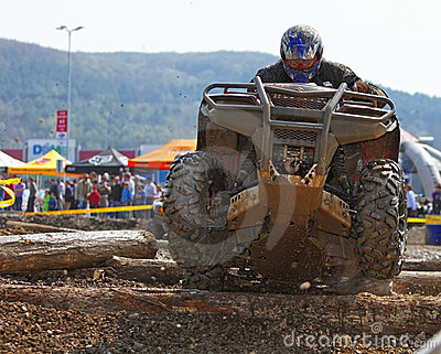 Chemin d ATV Image stock éditorial